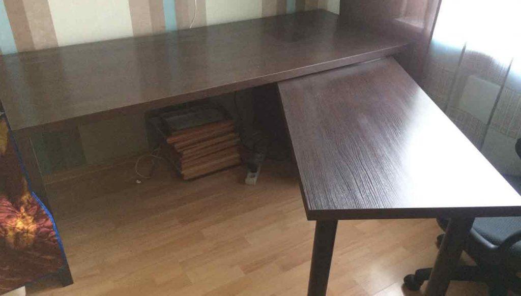 Письменный раздвижной стол для двоих детей
