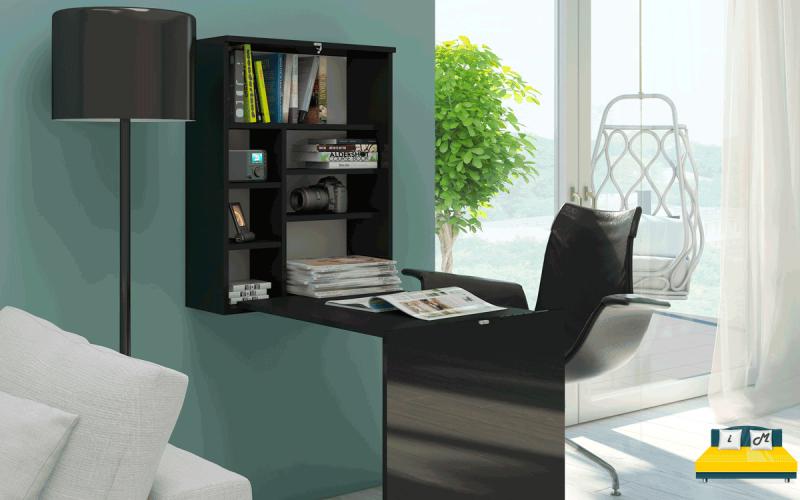 Размещение-складного-письменного-стола-в-интерьере-3
