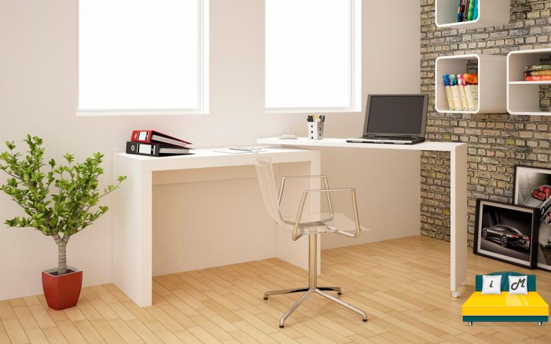 Размещение-складного-письменного-стола-в-интерьере