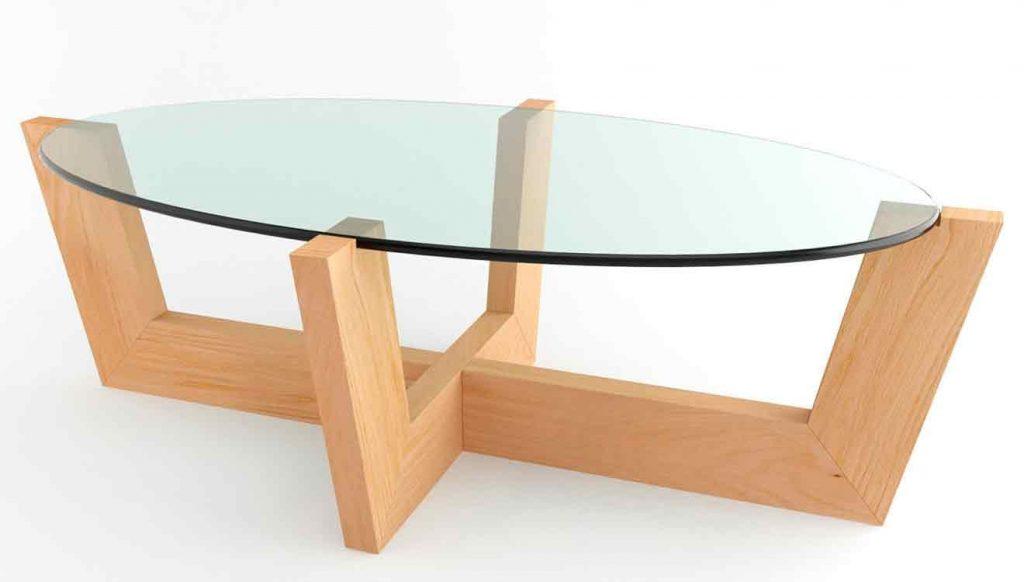 Стеклянный письменный стол