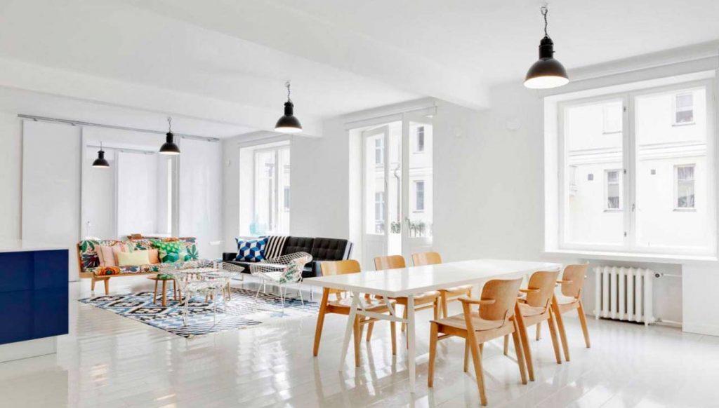 Стол обеденный в скандинавском стиле