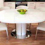 Обеденный раздвижной стол на одной ножке
