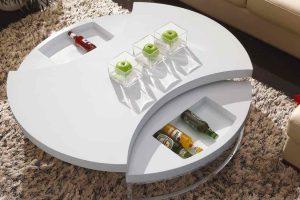 Белый журнальный столик