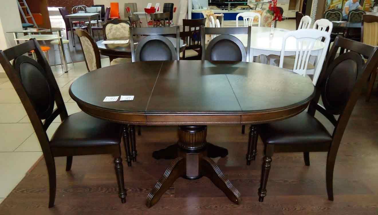 Круглый или овальный кухонный стол