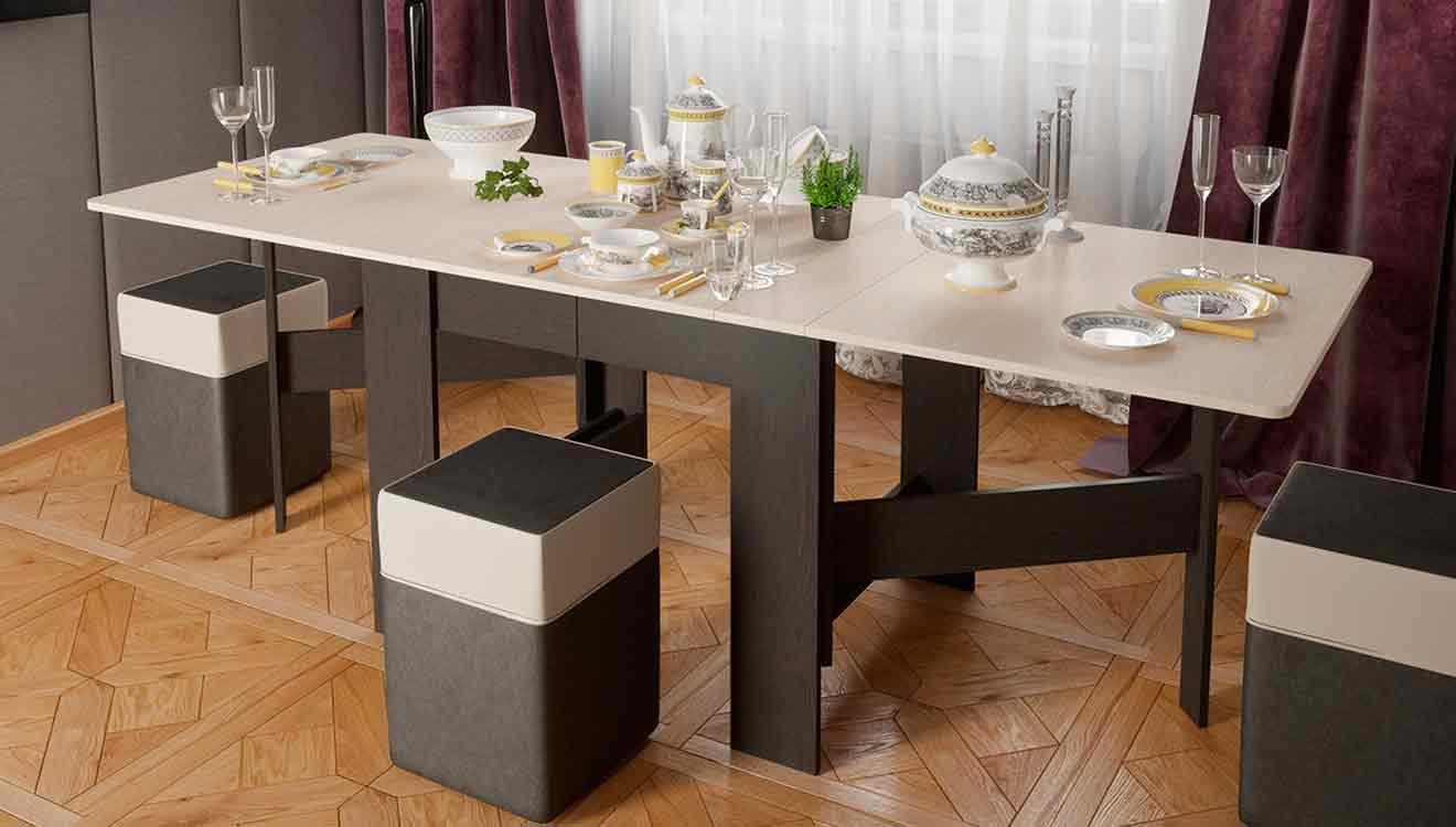 Обеденный стол для кухни разных размеров