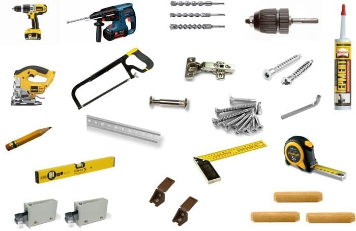 Инструменты для сборки кухни